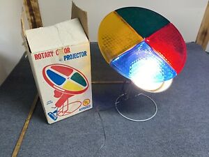 vintage Aluminum Christmas Tree Motorized color wheel Only With Original Box