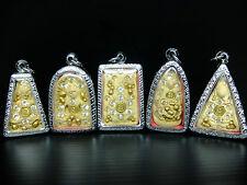 SET Benjapakee Gold Relics Buddha Somdej Phratat Bangkhunprom Kru Wat Phrakaew