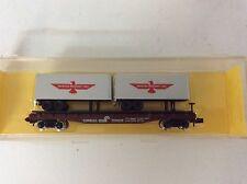 "Atlas # 3752 N scale ""American President Lines Trailers"" on a Conrail flat car"
