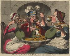 Monstrous craws 1787 caricaturist James Gillray print