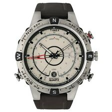 Timex Intelligent Quartz T2N721 Da Uomo Marrone Naturale Tide Temp Compass Orologio