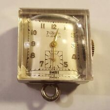 Vintage 17 Jewel VALJEAN Ladies PENDANT Watch Manual Wind WORKING w Clear Case