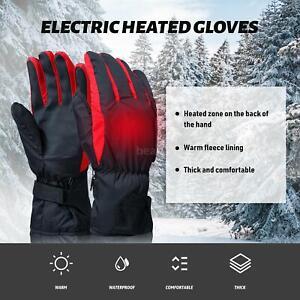 Beheizte Handschuhe Motorrad Winter Warme Heizhandschuhe Wasserdicht Ski K4K4