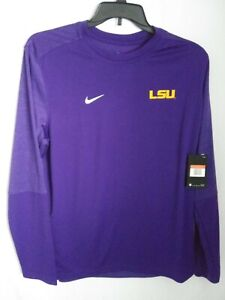 Nike LSU Tigers Sideline Long Sleeve UV Football Men's L Shirt Purple CI4760