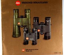 Original Leitz Wetzlar Sales Brochure for Trinovid Binoculars, 1983, 24 pages