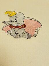 Personalized Embroidery Fleece Baby Blanket With Dumbo