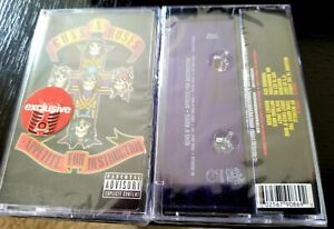 GUNS N ROSES cassette tape RARE SEALED PURPLE EDITION - APPETITE FOR DESTRUCTION