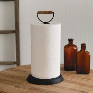 Homestead Paper Towel Holder Wood Handle Primitive Farmhouse Home Kitchen