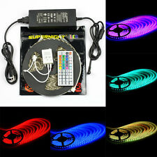 SUPERNIGHT® 10M 5050 SMD RGB 300/ 600Leds LED Strip Light / IR Remote / DC Power