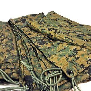 USMC MARPAT Woodland Reversible Field Tarp, Hasty Shelter, Tarpaulin