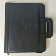 Franklin Covey Black 3 Ring Zippered Binder With Handles 11 X 13 12 X 2 14