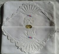 VINTAGE OLD HANDKERCHIEFS HANKIES HANKYS HANDMADE CRINOLINE LACE LADIES EDGE