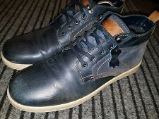 Mens blue ankle boots TU size 9 genuine leather