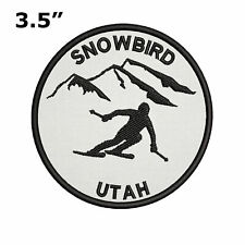 "Snowbird, Utah - Extreme Sports Skier 3.5"" Embroidered Iron or Sew-on Patch"