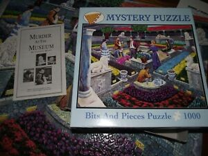 Bits And Pieces Mystery Jigsaw Puzzle  'Murder At The Museum' 1000 Pieces