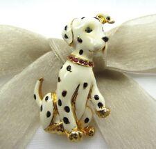 18KGP Dalmatian dog Swarovski Element Austrian Crystal Rhinestone Brooch Pin