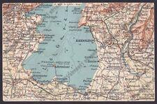 LAGO DI GARDA PESCHIERA LONATO SALÒ CAPRINO BARDOLINO CARTINA topograf. ca 1920