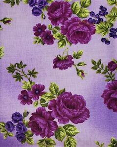 Boundless Violette Blooms Grape Cotton Fabric 3 Yard Package