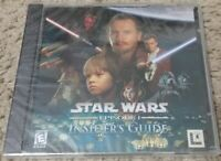 Star Wars episode 1 insiders guide windows Pc CD Software Lucas Arts New Sealed