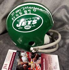 DON MAYNARD signed NEW YORK JETS mini helmet JSA WITNESS coa ny green color rush