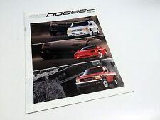 1992 Dodge Stealth Spirit Daytona Dakota Charger Ram 50 Ramcharger Brochure