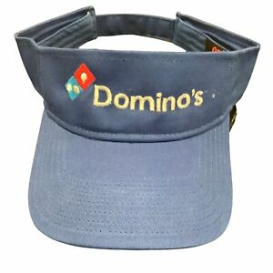 Domino's Pizza Visor - Adjustable - Embroidered - Employee Driver Crew Associ...