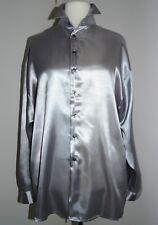 Satinhemd – Hemd – bis 140cm Brustumfang – Gr 54/56/58 – satin men shirt 3XL/4XL