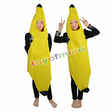 Unisex Banana Fruit Costume Fancy Dress For Hen Stag Night Party Complete Outfit