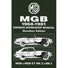 MG MGB & MGB GT Owners Workshop Manual 1968-1981 book paper
