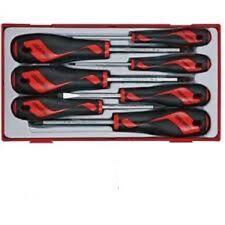 Juego 7 destornilladores de bocas planas TENGTOOLS TT917N