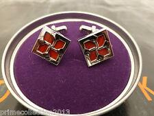 TED BAKER Printed Diamond Cufflink FILCUF Metal Polished Cufflinks BNWT RRP£45
