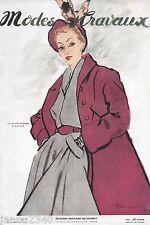 RARE!MODES et TRAVAUX n° 577/Janvier 1949/Mode vintage grands couturiers