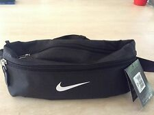 NIKE BUM BAG FANNY WAIST PACK BLACK TRAVEL BUMBAG MONEY CASH GYM WORKOUT BELT