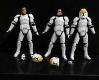 lot of 3 Star Wars Clone Pilot TROOPER Revenge Of The Sith 501st figure w gun