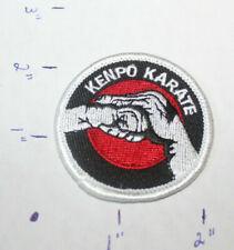 NEW KENPO KARATE SMALL ROUND FISTS STITCHED UNIFORM PATCH Martial Arts MMA