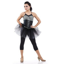Adult 2XL Unitard Dance Jazz Costume Corset Look RULE THE WORLD