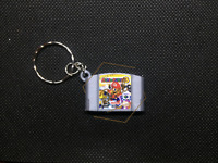 Mario Party 3 3D CARTRIDGE KEYCHAIN Nintendo 64 N64 collectible