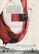 Publicité Advertising  ///   Les vins du Val de Loire  CHINON