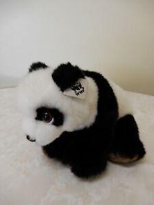 Vintage World Wild Fund for Nature 1986 Panda Cub Stuffed Animal 21cm Black/Wh.