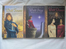 Lot of 3~Claidi Journal Series by Tanith Lee~Wolf Tower Star Queen~LBDAW