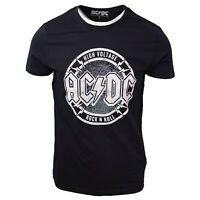 ACDC Men's High Voltage Rock N Roll Black S/S T-Shirt