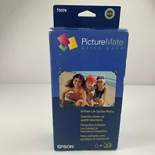 Epson PictureMate Print Pack Ink Cartridge + 100 Photo Paper T5570 Exp. 06/2006