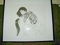 Art Titled TATTOOS II by Orr Marshall - Hand Colored - Signed by the Artist