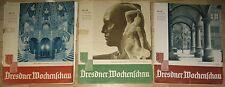 Dresdner Wochenschau Konvolut von 19 Zeitschriften des Jahres 1941 Dresden