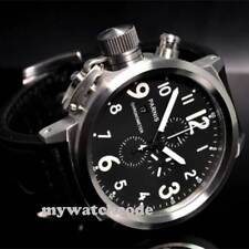 50mm Parnis Big Face black dial day date mens quartz WATCH Full chronograph P34