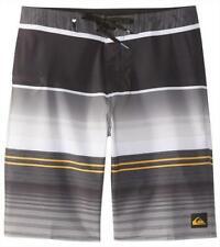 "Quiksilver Mens Everyday Stripe Vee 21"" BOARDSHORT Short - Black Grey Rrp $79.99"