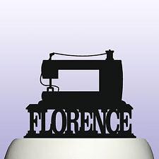 Máquina para coser Acrílico Personalizado Cumpleaños Cake Topper Decoración