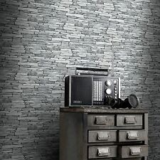 Plata Pizarra Negra wallpaper efecto - 263144 Windsor Wallcoverings Nuevo