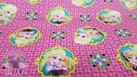 Disney Frozen Sisters Anna Elsa Framed Cotton Fabric by the Yard 14245