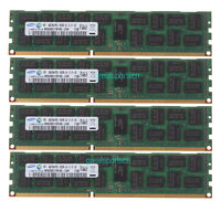 16GB Samsung 4X 4GB 2Rx4 PC3-10600R DDR3-1333Mhz 240pin ECC REG Server Memory